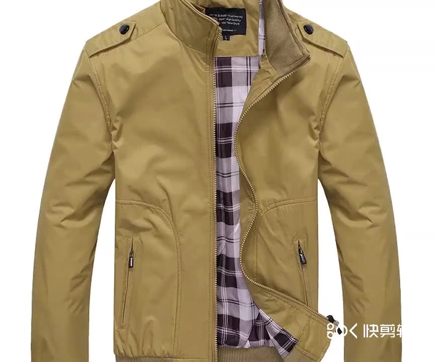 中国卸売価格秋の新スタンドカラー男性のジャケット若者のカジュアルなジャケット