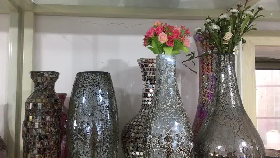 Vase en verre mosaïque, naturelles, coquillages de mer