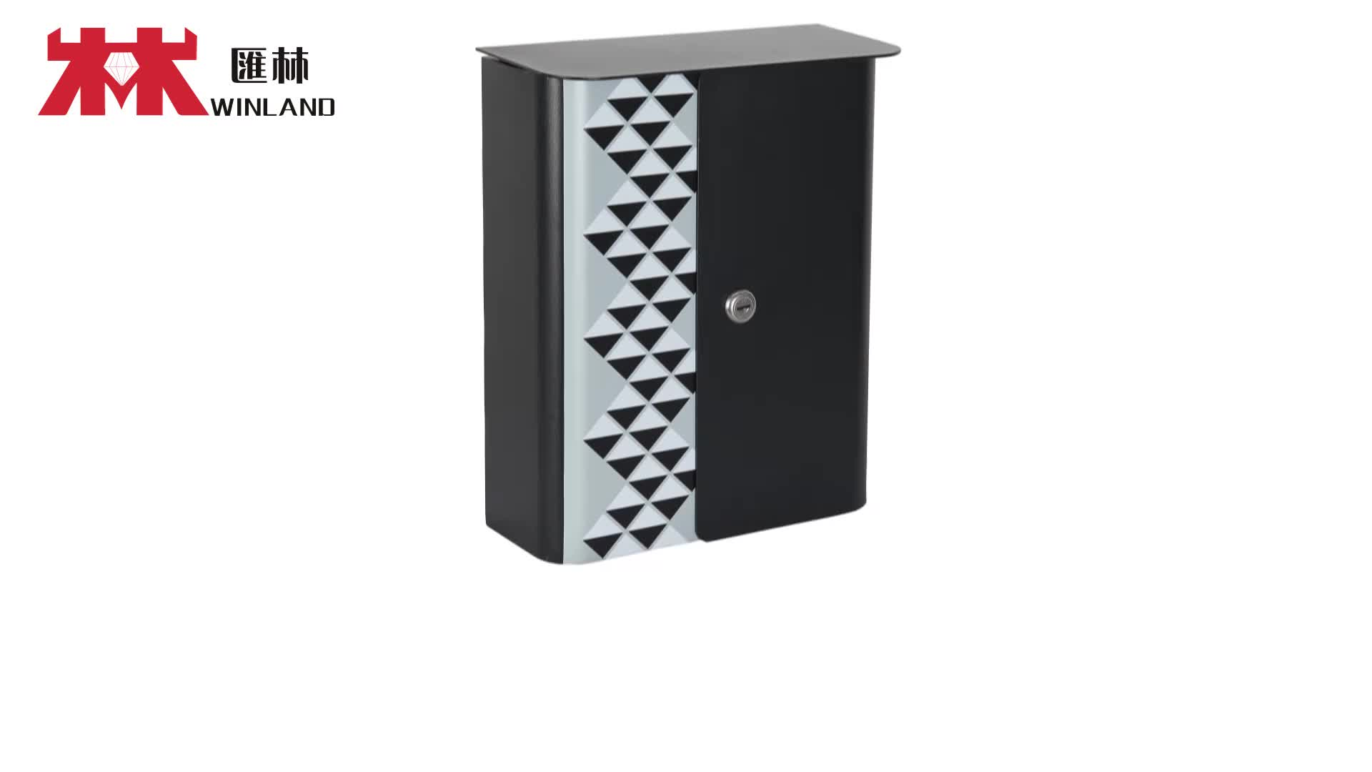 Printing modern design lockable Wall Mounted A4 size mail box