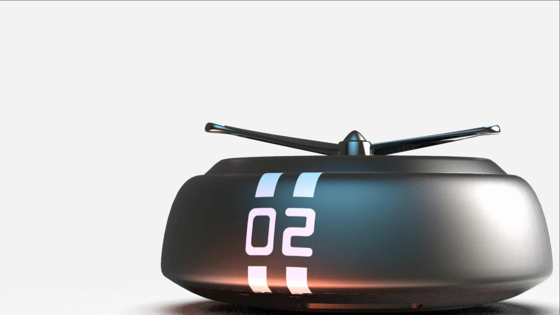 Metal alloy solar driving spread aroma car perfume air freshener car fragrance diffuser