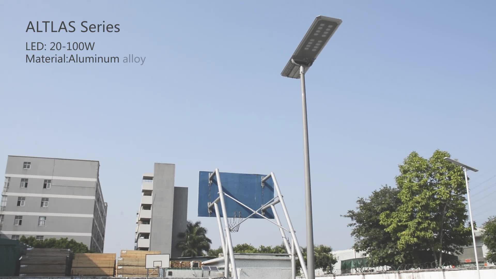 Lámparas solares de 100 vatios de alta calidad para exterior