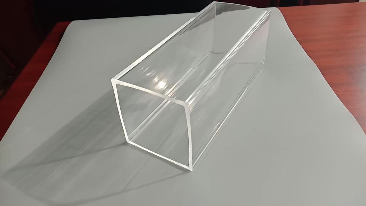 Kingsign clear custom shape square rectangular acrylic pipe PMMA tube