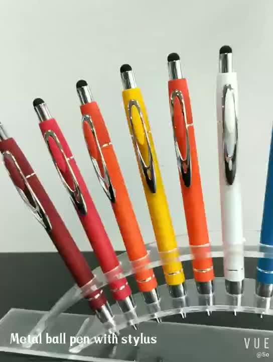 Дешевый персонализированный бренд стилус Металл пользовательские ручки с логотипом