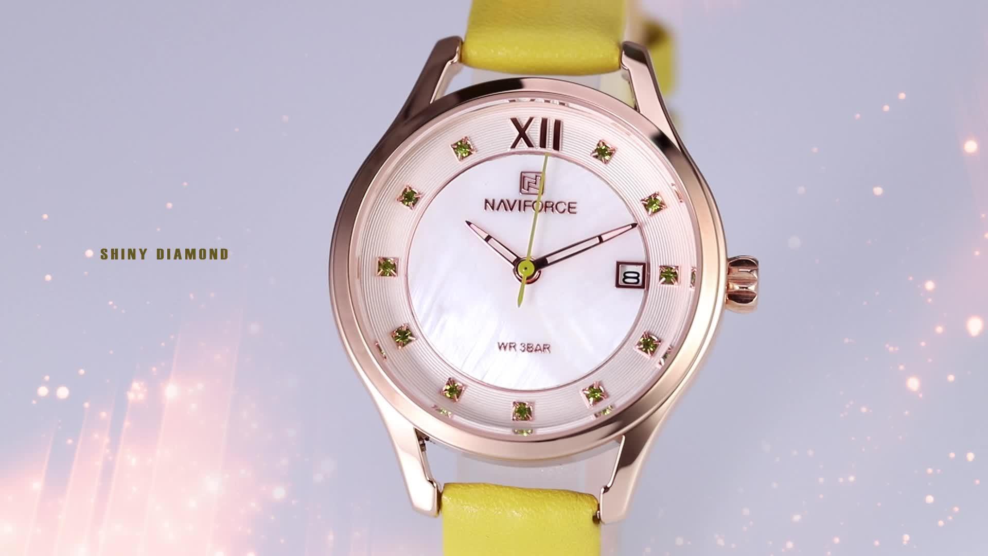 navi force watch 5010 top Brand casual relojes de mujer montre jam tangan women watches naviforce