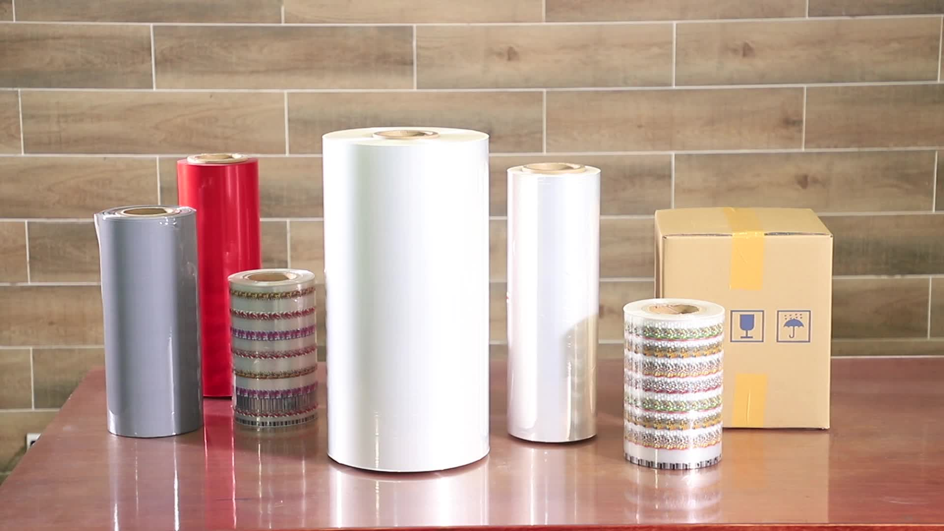 Verpackung material weiß PE/polyolefin schrumpffolie klar schrumpfkunststofffolie