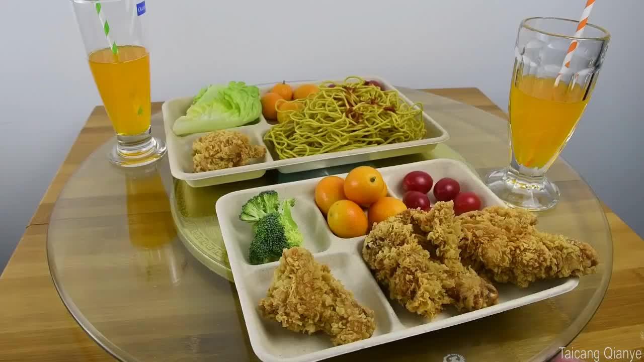 Biologisch abbaubare Einweg-Papierschalen und Lunchgeschirr für die Zubereitung von Speisen