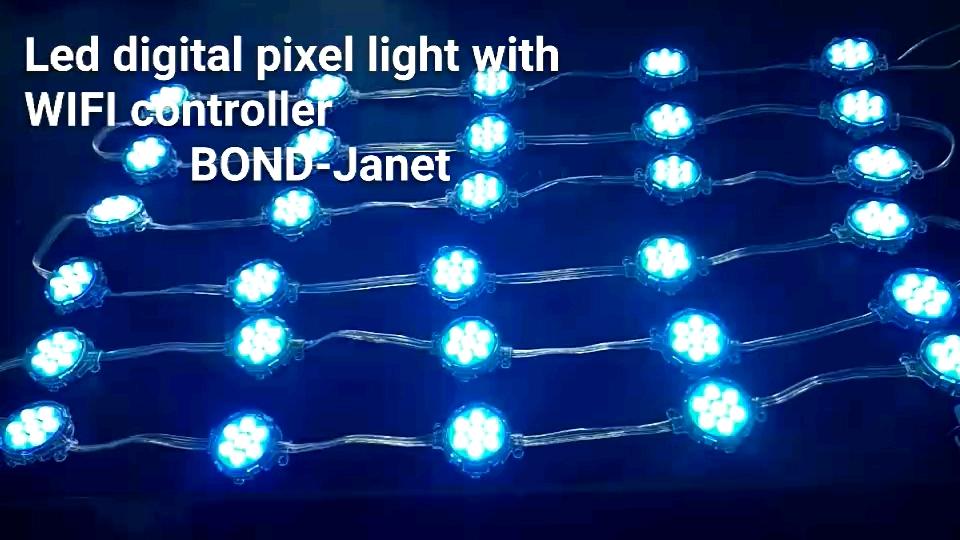 Lampu Piksel RGB Digital SMD5050 40Mm 50Mm, Lampu Sorot Led Luar Ruangan untuk Bangunan