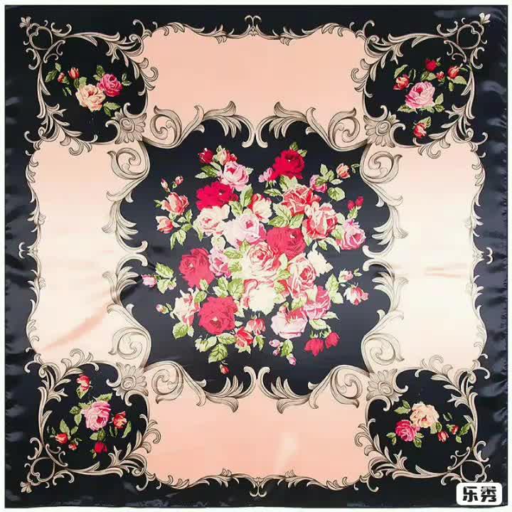 卸売 100% シルクスカーフ女性パーソナライズ 53*53 正方形の絹のスカーフ