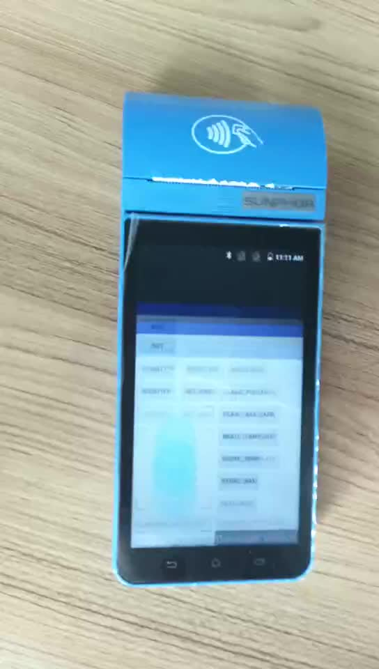 4G Android Smart Payment POS Terminal With Fingerprint Module NFC Reader  portable POS system With PCI&EMV certification, View portable POS system,