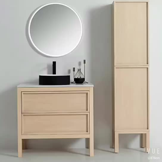Wall hung timber 1500 bathroom vanity with cheap price