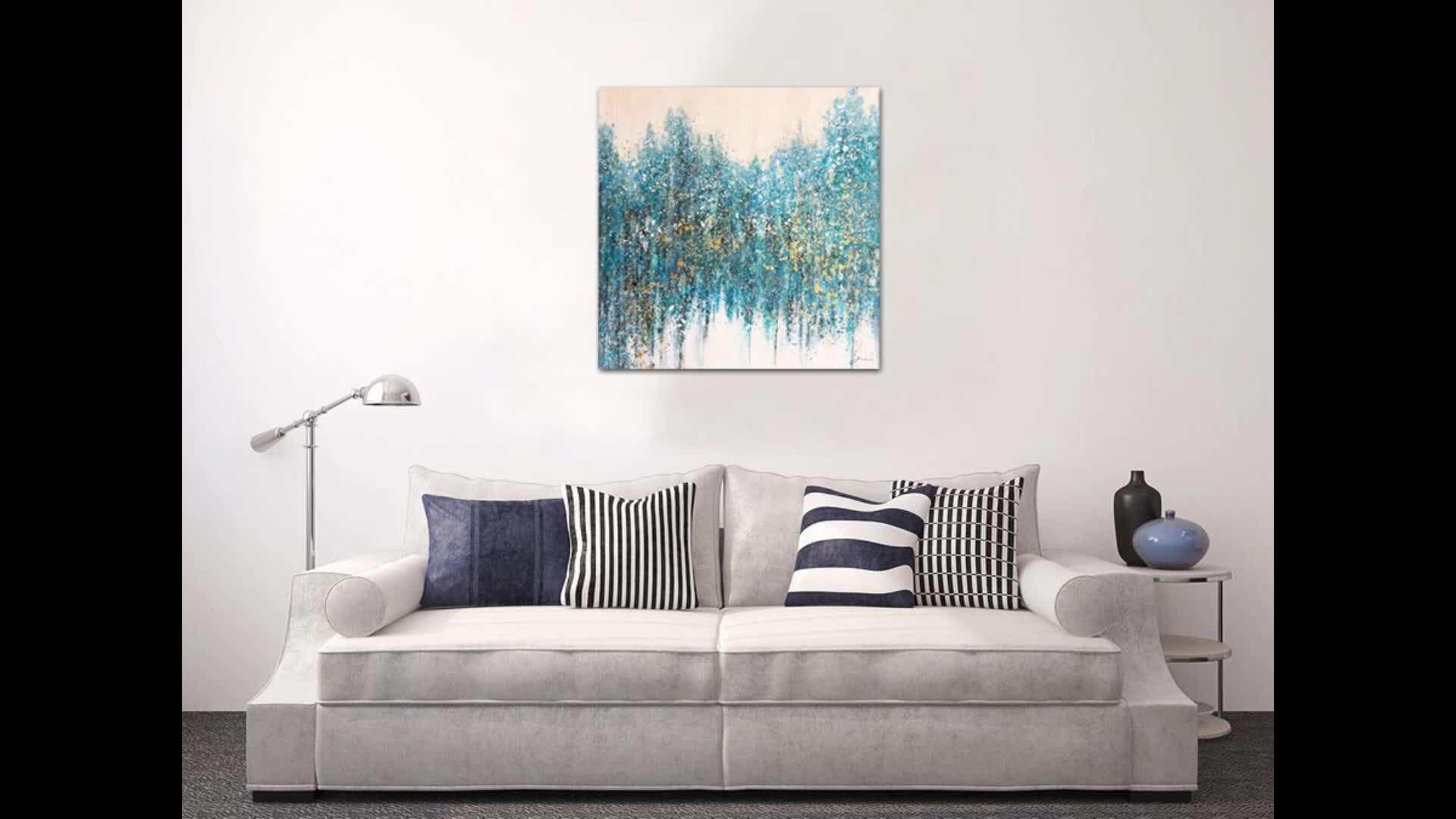 Oversized Modern Abstract Decorativa Pintados À Mão Pintura A óleo Da Lona