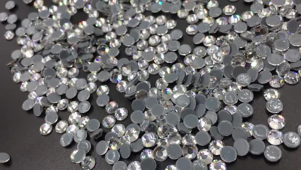 Zhejiang Factory Crystal Hot Fix Rhinestones In Bulk Hot Fix Rhinestone SS10