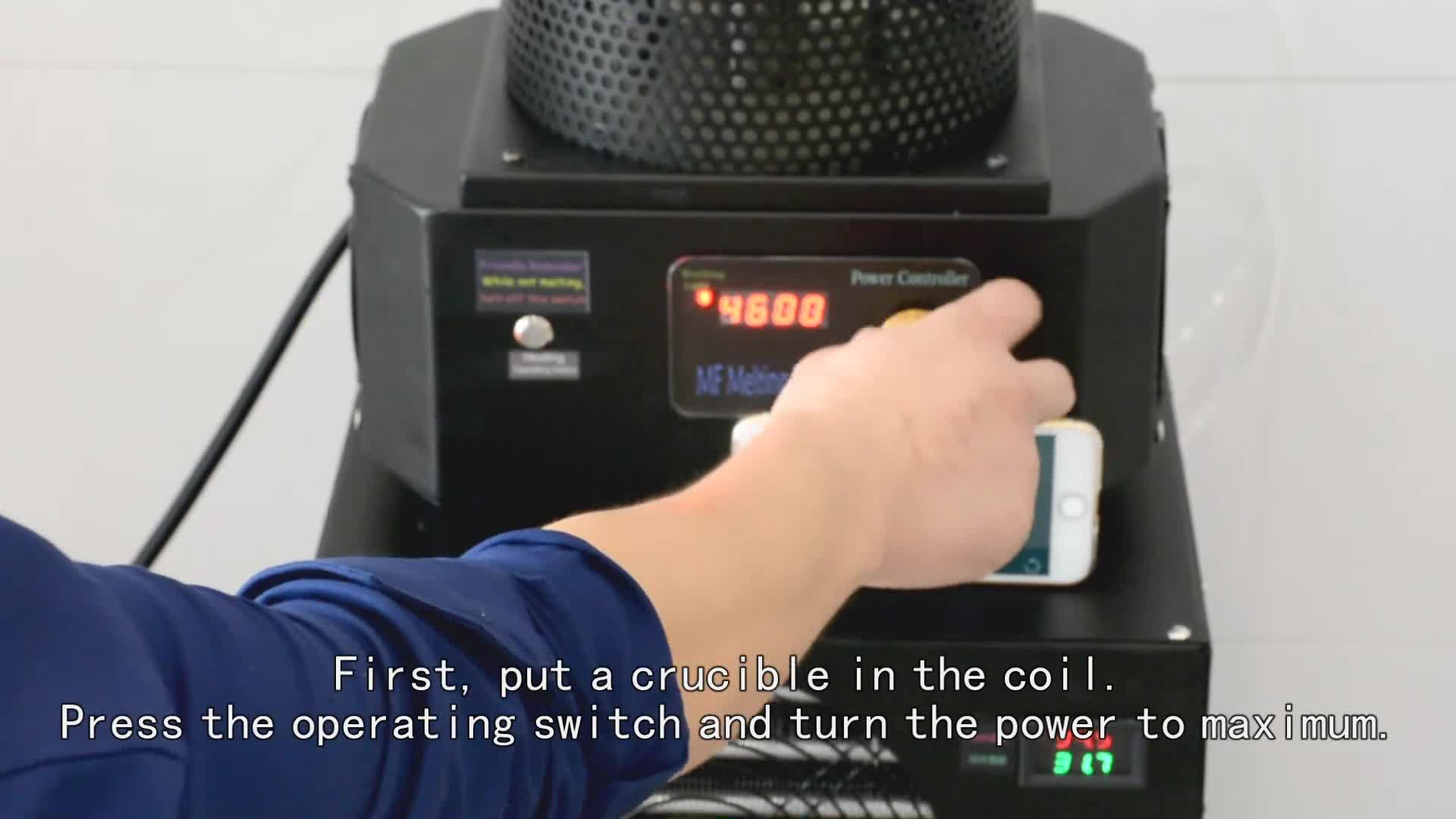 3KG 1500 골드 실버 구리 유도 용광로 전기로