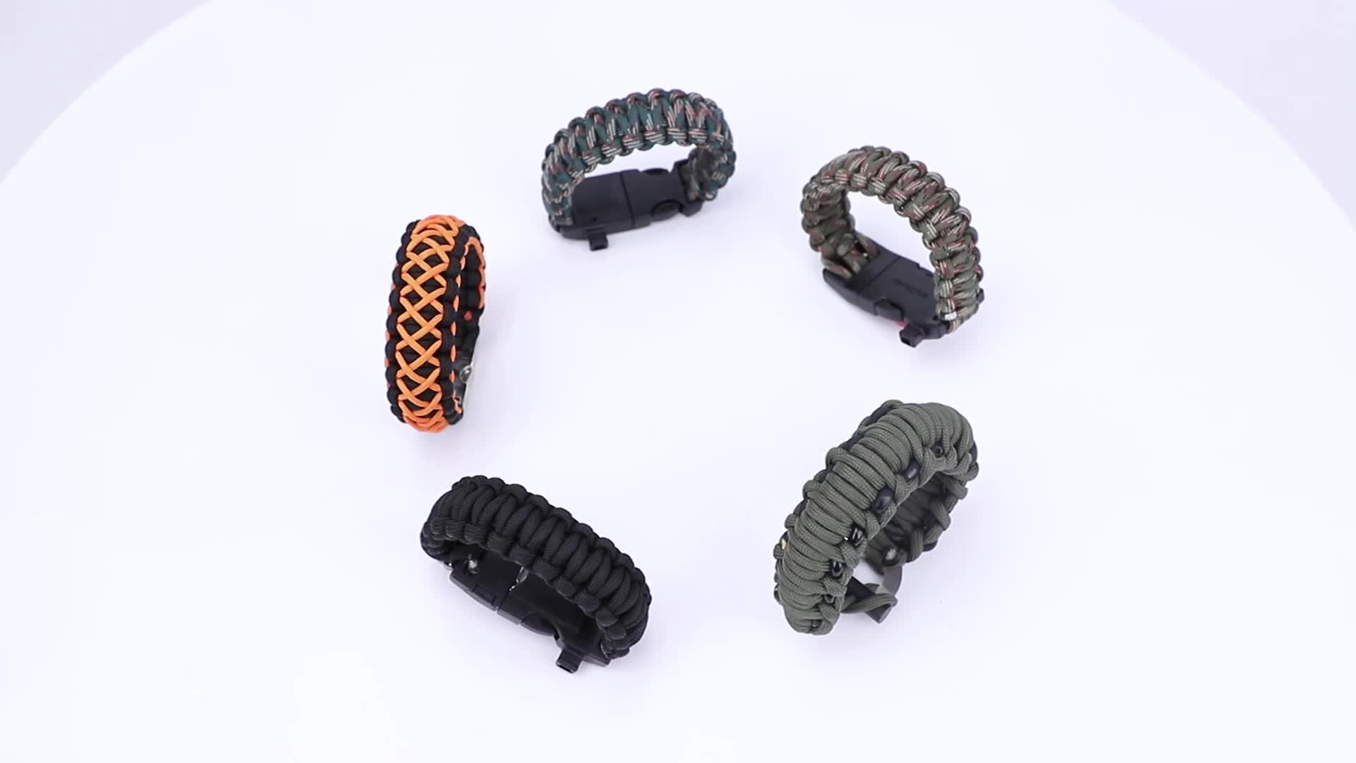 Promotionele Gratis Monsters Survival Paracord Armbanden Voor Outdoor Camping
