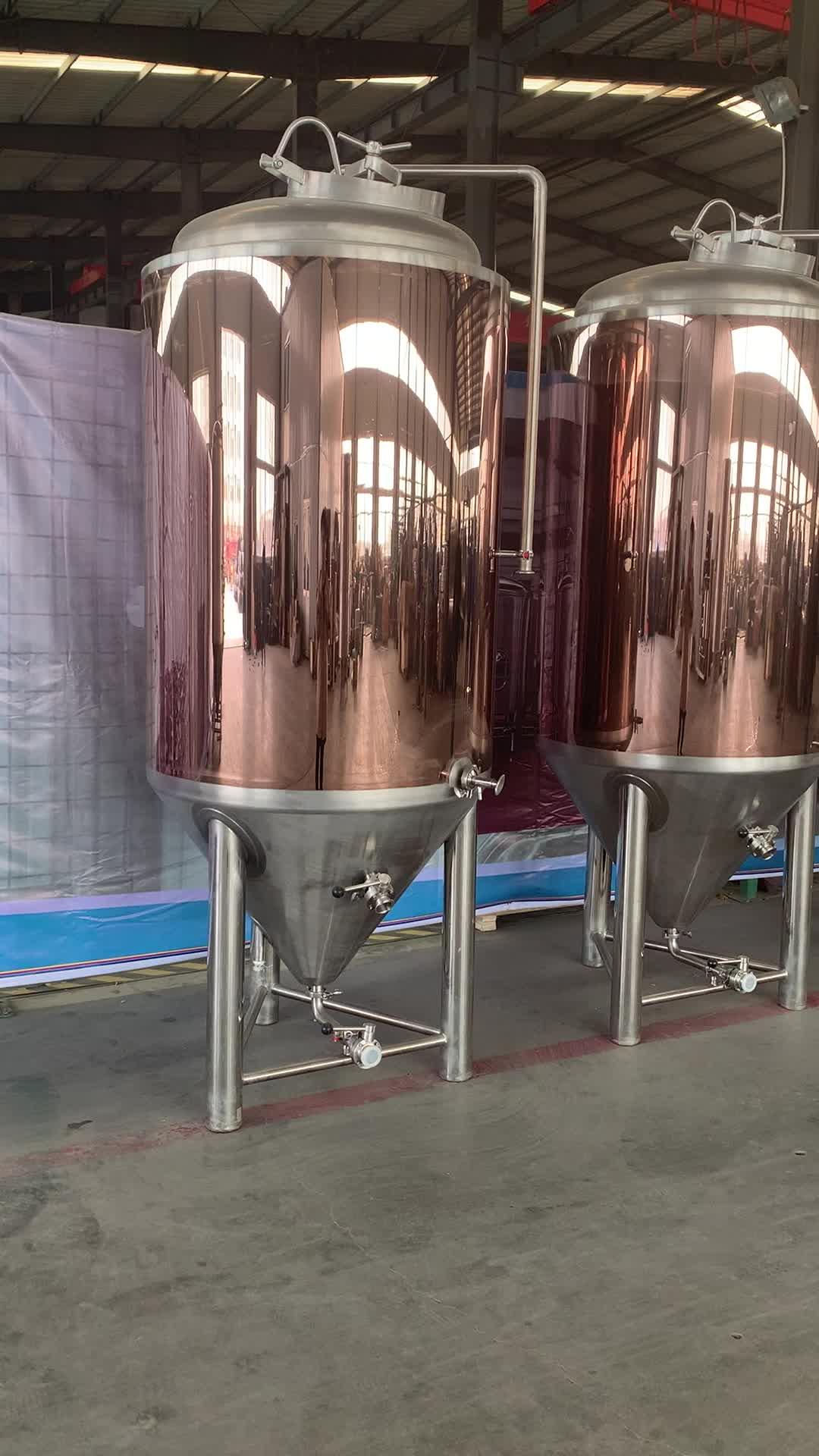 7bbl/10bbl/15bbl/20bbl बियर किण्वक, शंक्वाकार बियर किण्वन टैंक, जैकेट fermentor