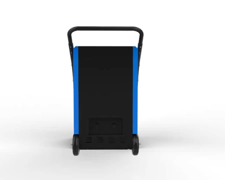Commercial Water Damage Restoration Dehumidifier 90 L with Handle Moves Easily Wheels