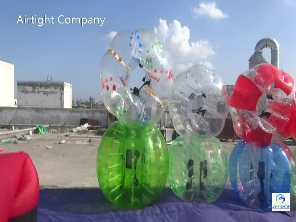 New coming football zorb good price China inflatable bubble ball with front window