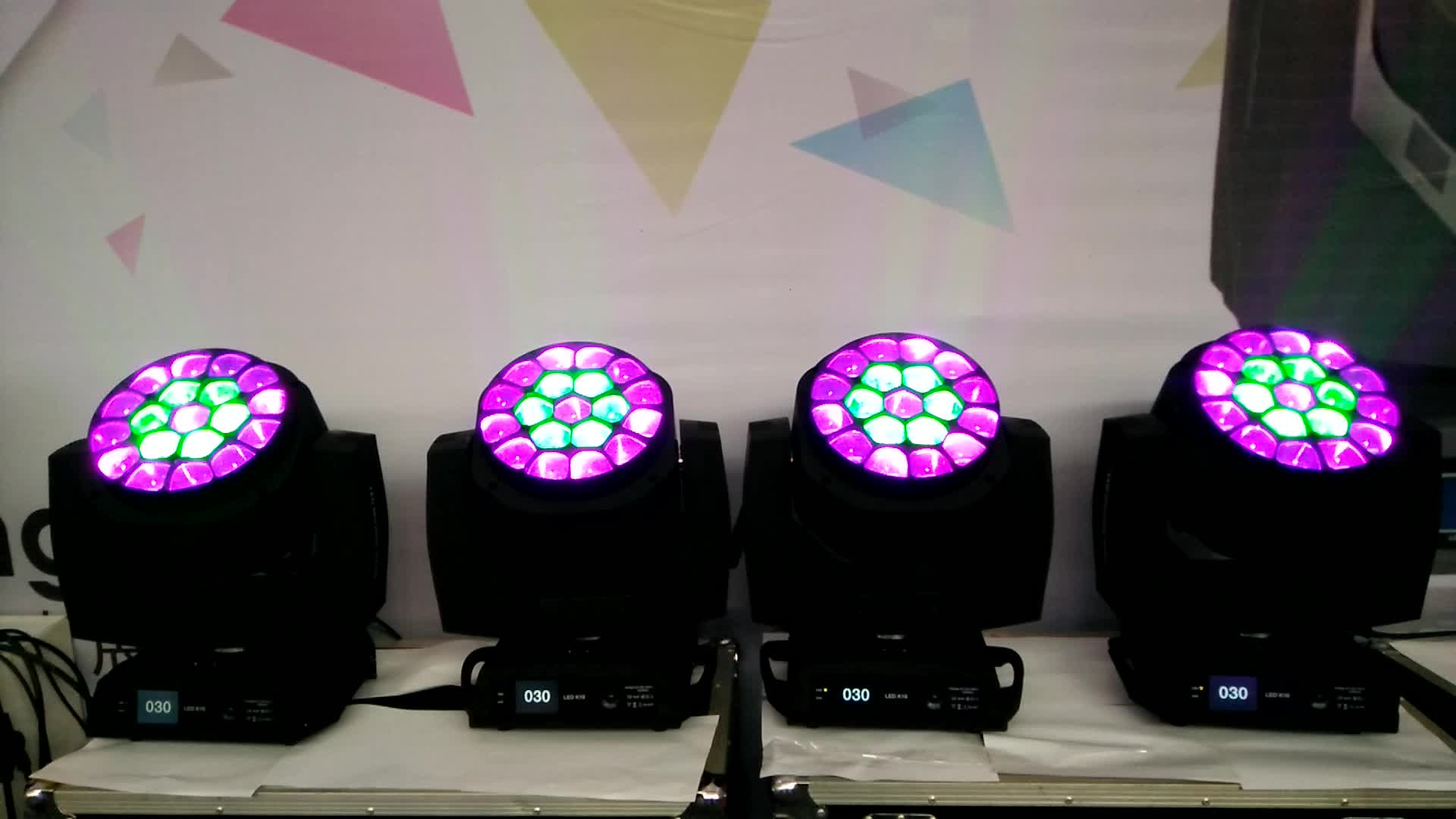 Hot sell bee eye led moving head light k10 19*15W moving head led stage light