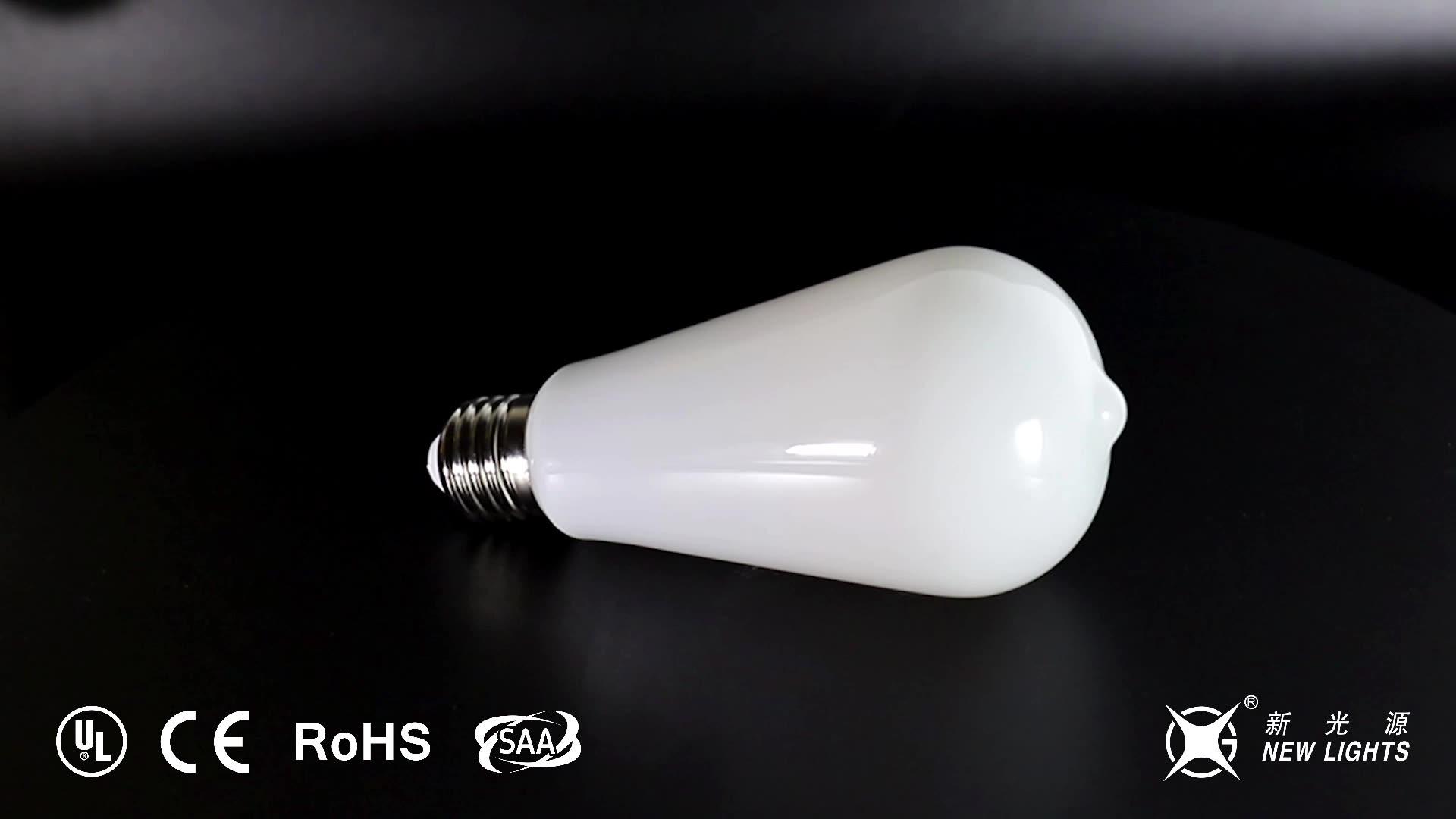 Fábrica de China blanco lechoso G125 G95 G80 globo forma de bulbo del led E27 4w 6w 8w luces de bulbo led filamento de la bombilla