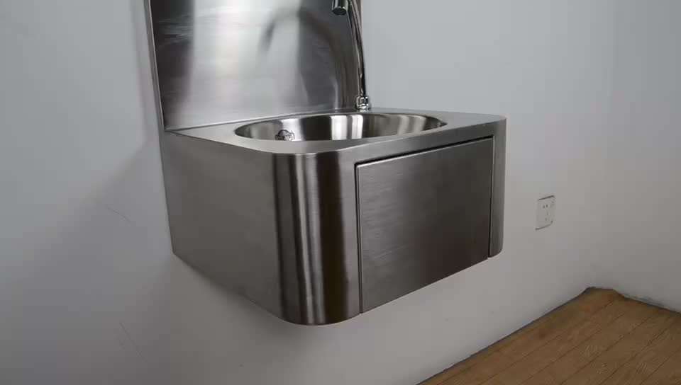 Stainless Steel Knee Operated Hand Wash Sink Hotel