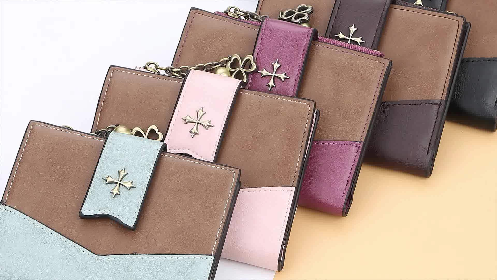 Baellerry 2019 New Hot Sell Well Short Section assorted colors Wallet For Women With Hasp,Lady Zipper Coin Purse Wholesale