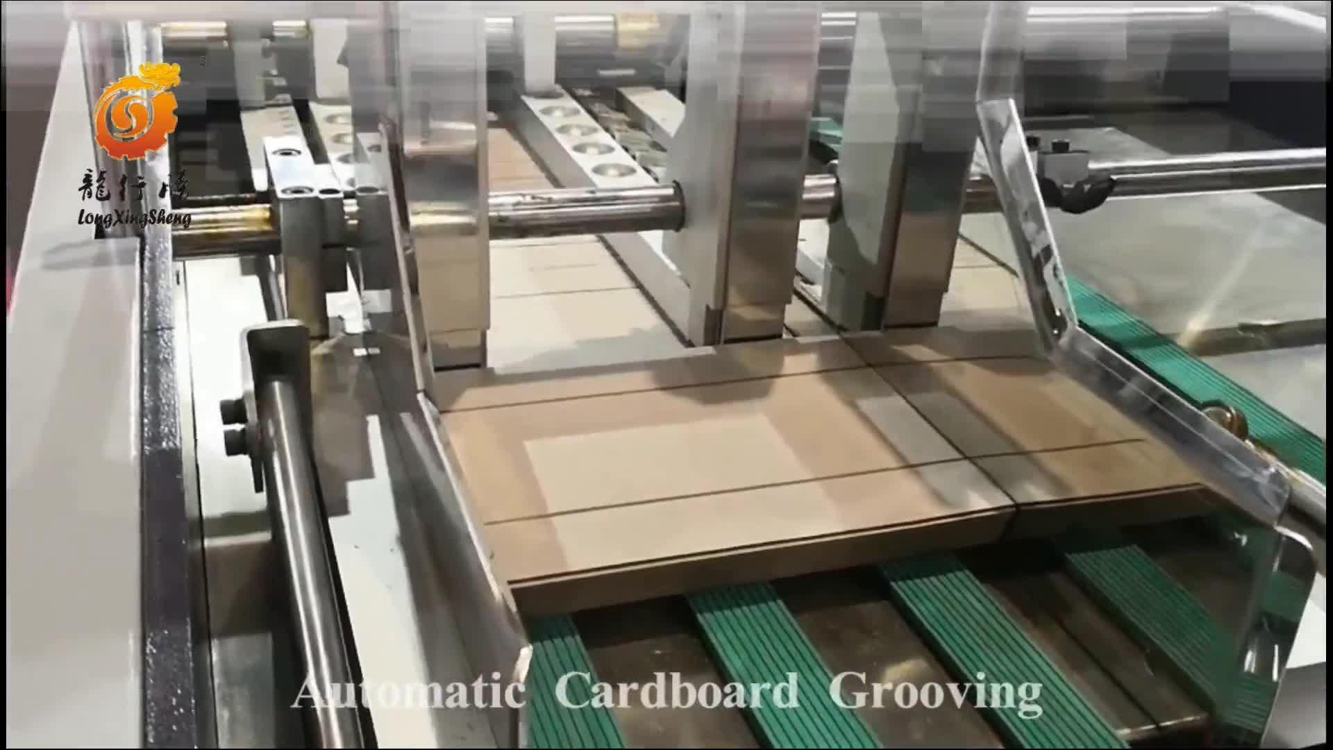 Automatische Roll Stofvrij Karton Groef Snijmachine