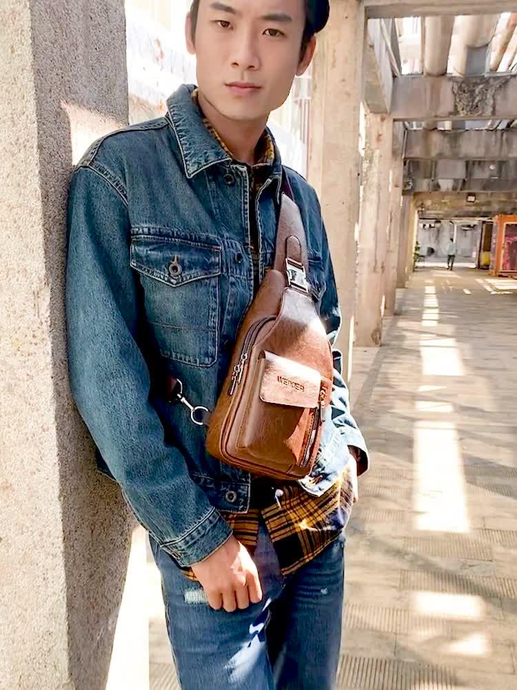 कारखाने की आपूर्ति WEXIER पुरुषों पु चमड़े आकस्मिक crossbody कंधे दूत बैग