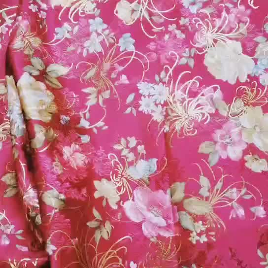 High quality China culture polyester jacquard cheap brocade fabric
