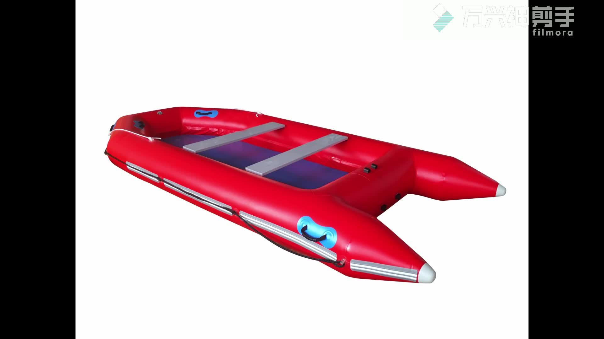 Di plastica gonfiabile barca da pesca con pagaia, nautica, cina barca produttore