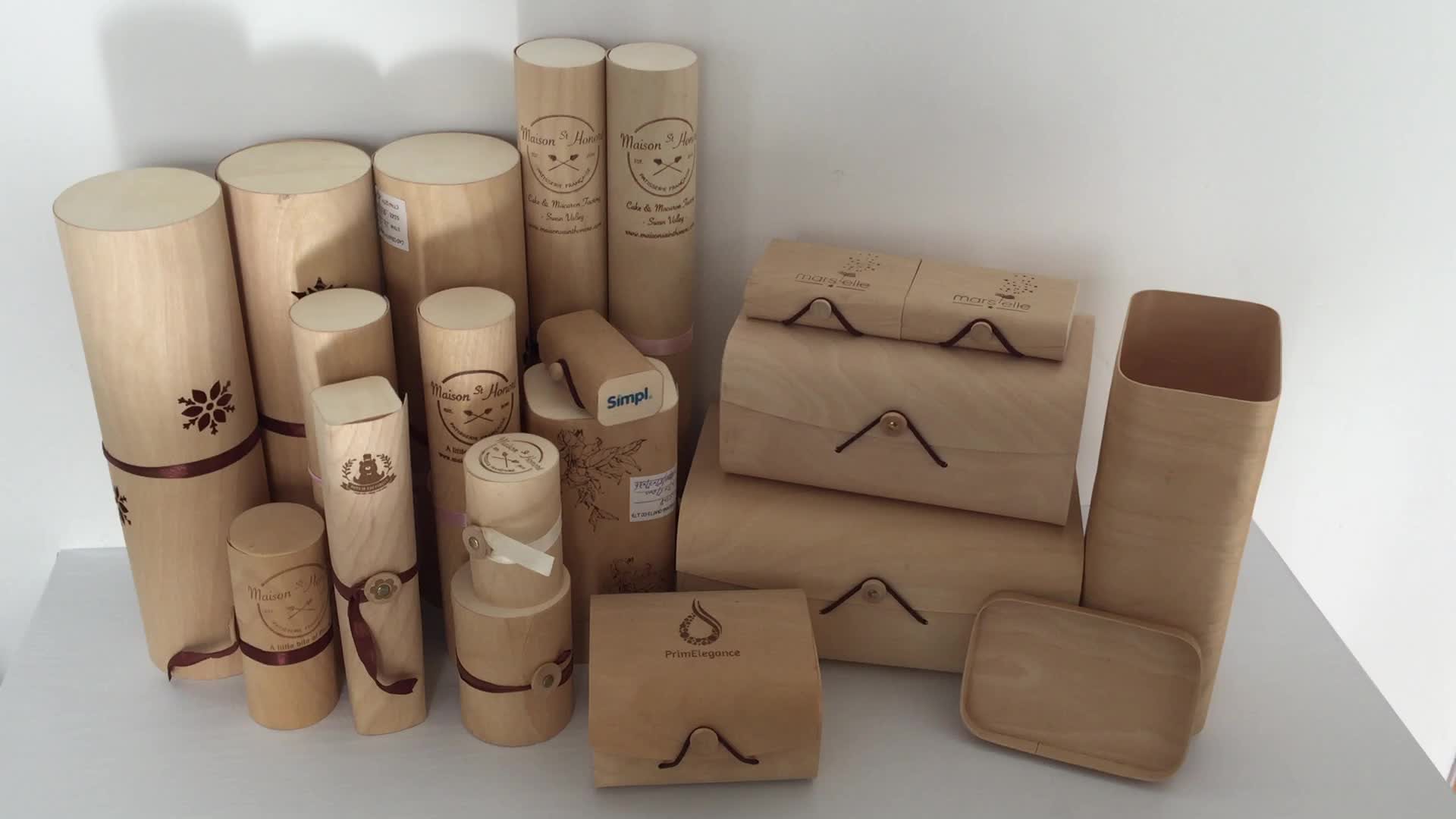 Eco Friendly birch bark food packaging box