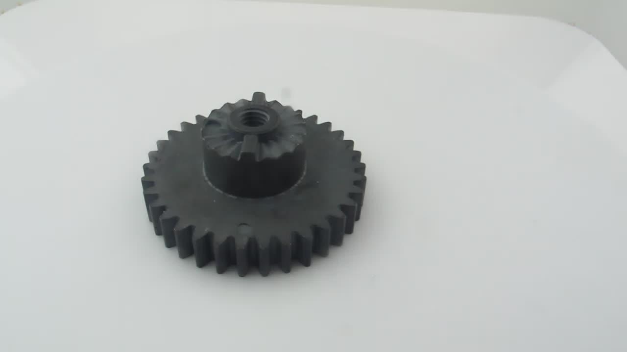 FLN2-4408 de inyección en polvo de acero al carbono de alta calidad PM OEM de engranaje con el eje de piezas de maquinaria de construcción