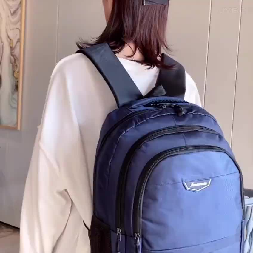 """2020 Hot Cheap Price Wholesale Student  Layers Pocket Custom Logo Promotion 15.6""""  Laptop Backpack"""
