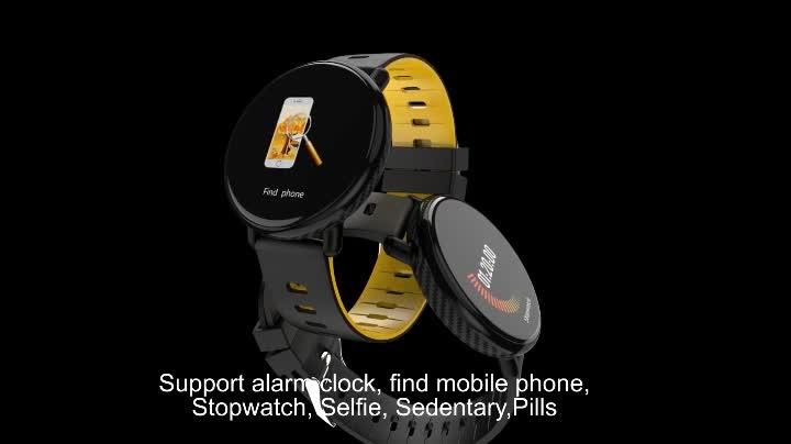 फिटनेस ट्रैकर 3D यूआई स्क्रीन K1 स्मार्ट घड़ी रक्त दबाव IP68 निविड़ अंधकार एसएमएस धक्का घंटा SmartWatch खेल