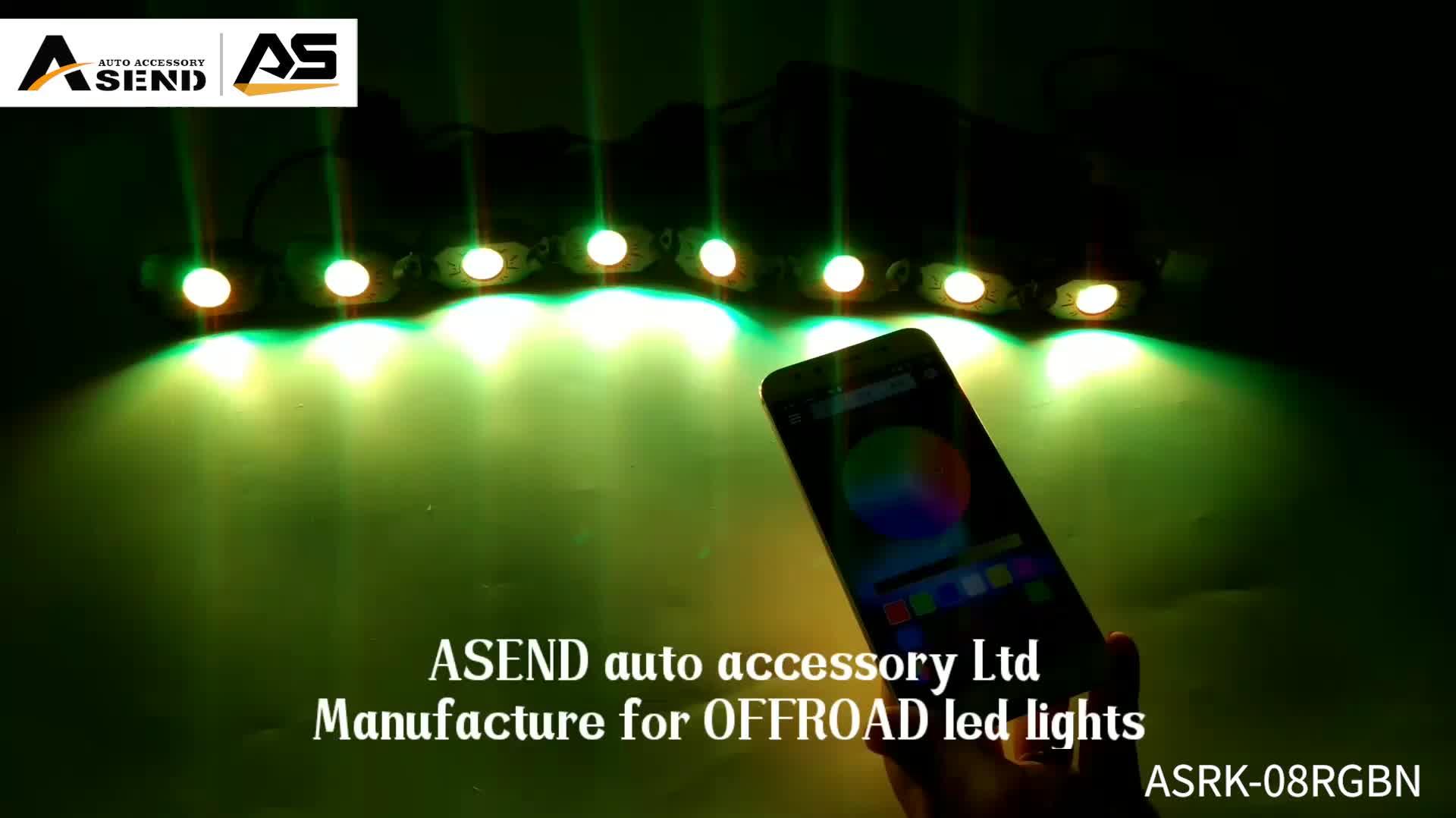 8 Polong Aplikasi Bluetooth Kontrol Perubahan Warna LED Rock Light Kit untuk Mobil Lampu LED Aksesoris Motor Perahu