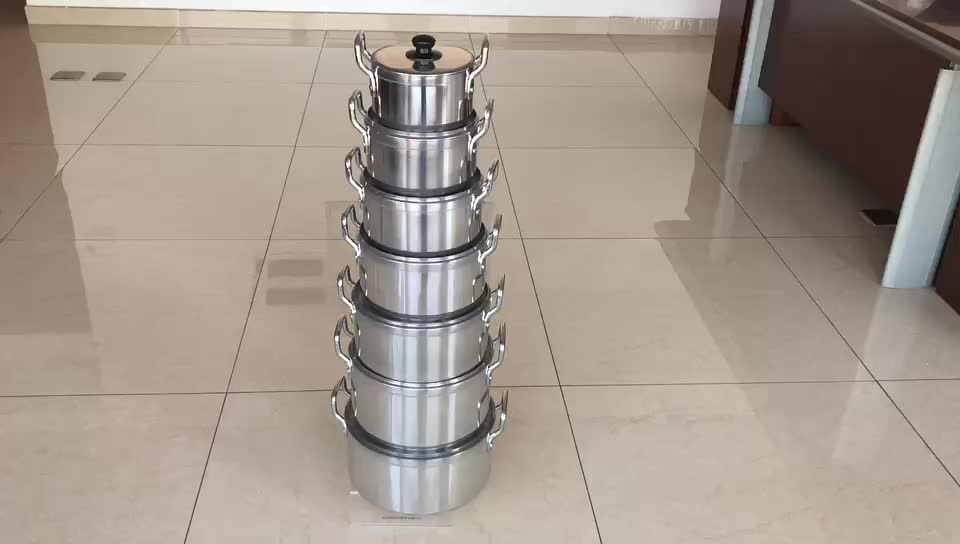 High quality 7pcs aluminium kitchen cooking pot cookware set