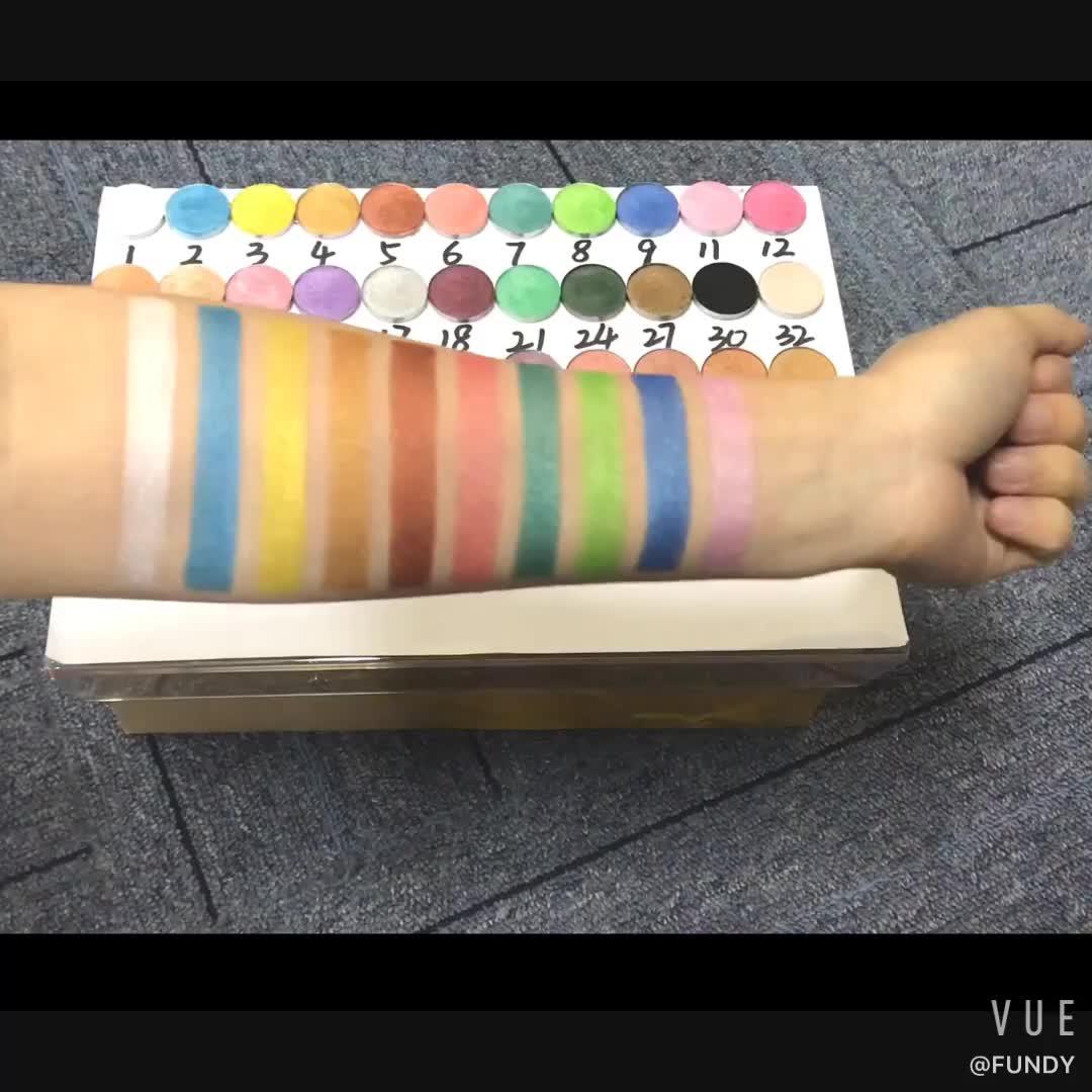 LOW MOQ Eyeshadow palette DIY your own brand custom cardboard eyeshadow palette