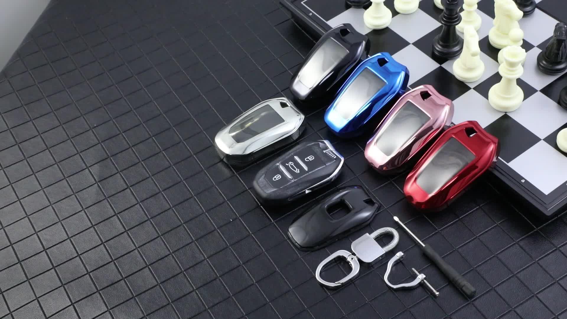 Colorfast TPU 자동차 키 커버 껍질 스킨 푸조 208 308 508 3008 5008 시트로엥 C4 피카소 DS3 DS4 DS5 DS6