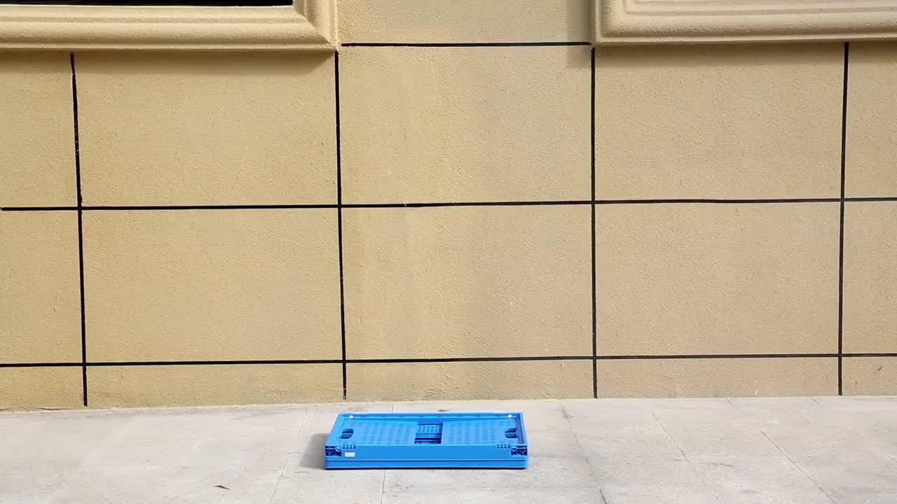 플라스틱 접이식 식품 저장 상자 접이식 쓰레기통 팔레트 컨테이너