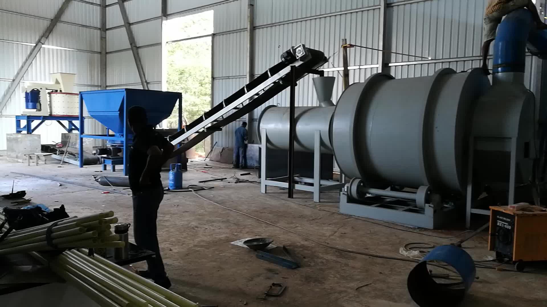 Cornice gypsum powder making machine with valve bag packer/ gypsum plaster mixing machine