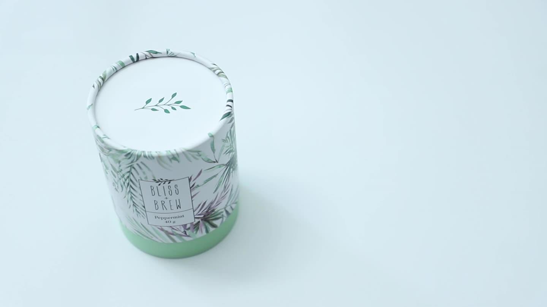 ชาบรรจุภัณฑ์หลอดกระดาษกระดาษแข็งเกรดอาหารกระบอกคอนเทนเนอร์สำหรับชารอบกล่องบรรจุภัณฑ์