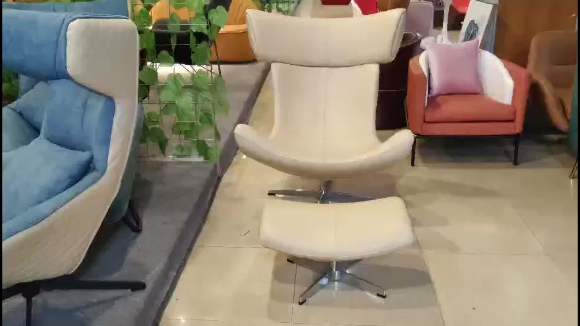 Estilo nórdico de sala de muebles para el hogar de cuero solo imola chaise Lounge silla sofá Silla de ocio