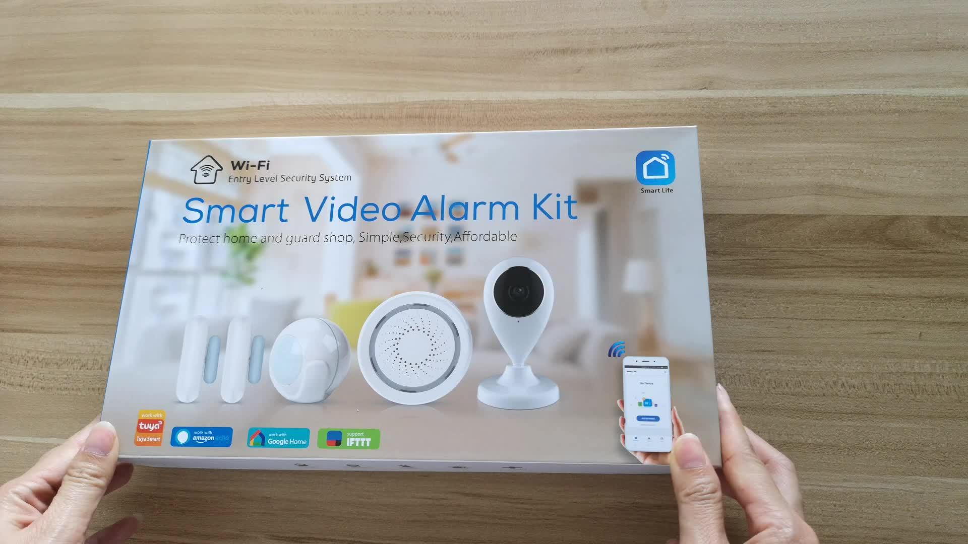 Alexa Google IFTTT Tuya Linkage Home Alarm Security System IP Camera PIR Deur Sensor Sirene 100DB Smart Leven APP