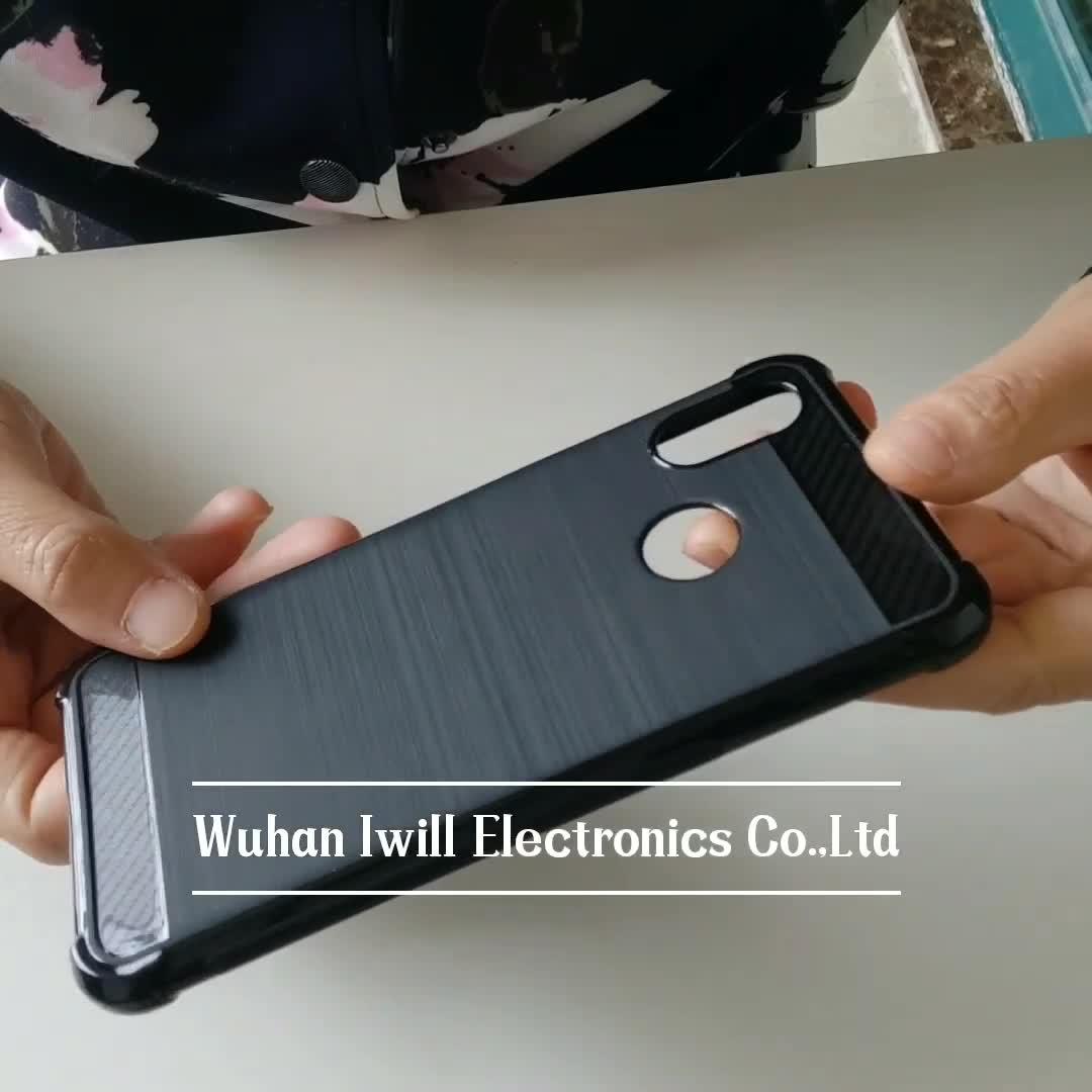 carbon fiber brushed shockproof tpu case for Samsung Galaxy S10e soft back cover