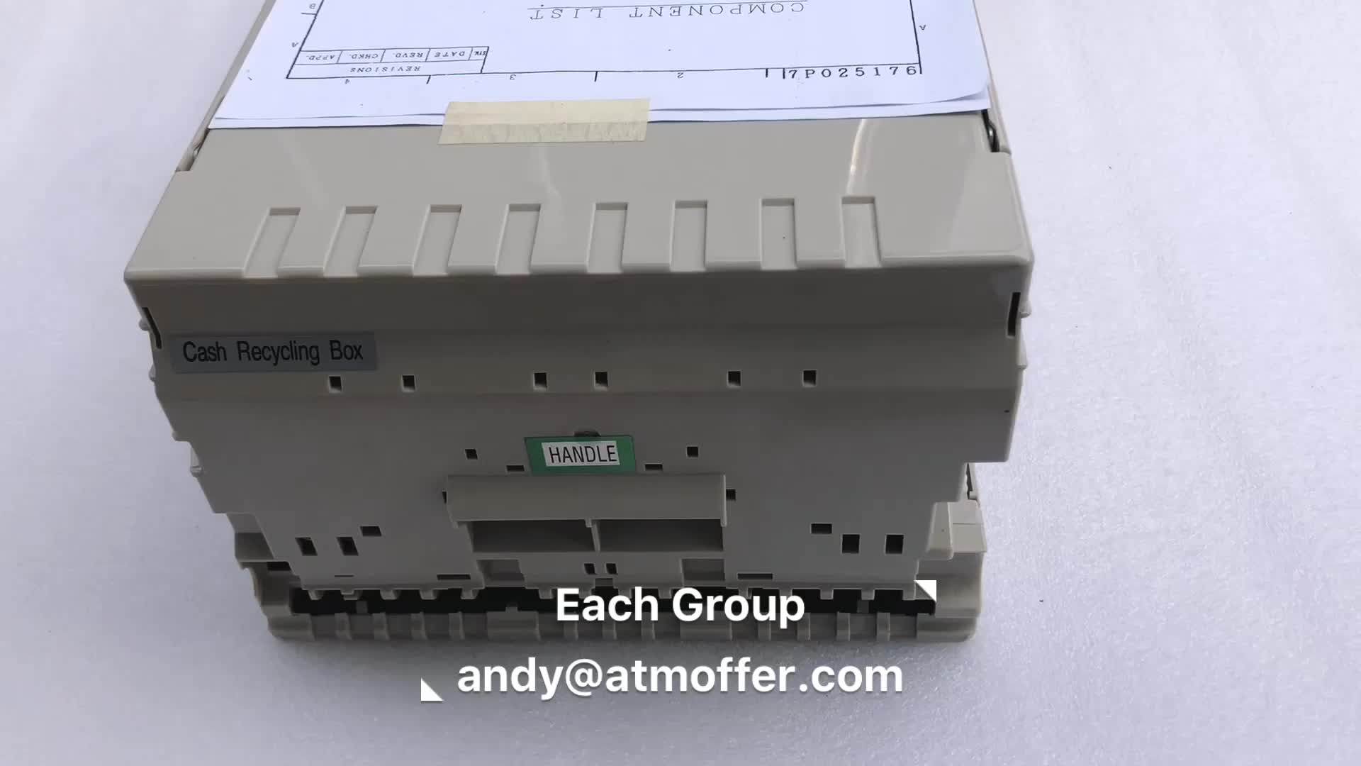 Hitachi ATM Parts Cash  Recycling Box Money Cassette HT-3842-WRB-C