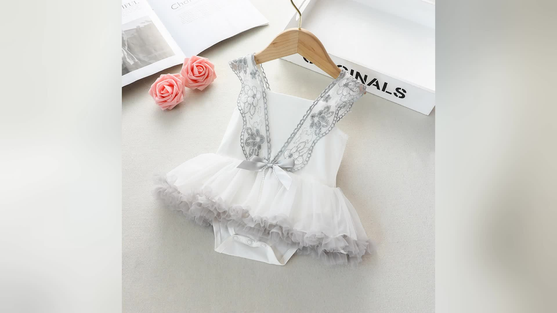 Breathable Baby Summer Dress Infant Wedding Clothing Toddler Girls Clothes Sleeveless Baby Girl's Princess Dress