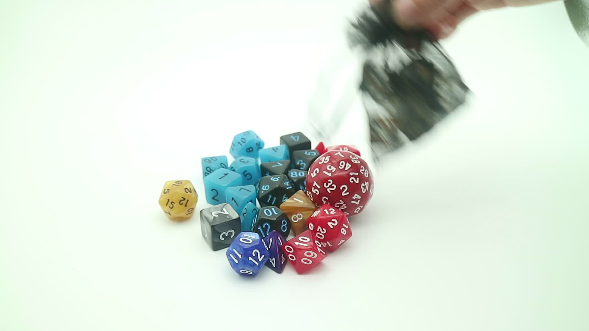 Antique Copper Solid Metal Polyhedral Dice Set Old Copper Metal Playing Game Dice for Dungeons and Dragons RPG Dice Gaming
