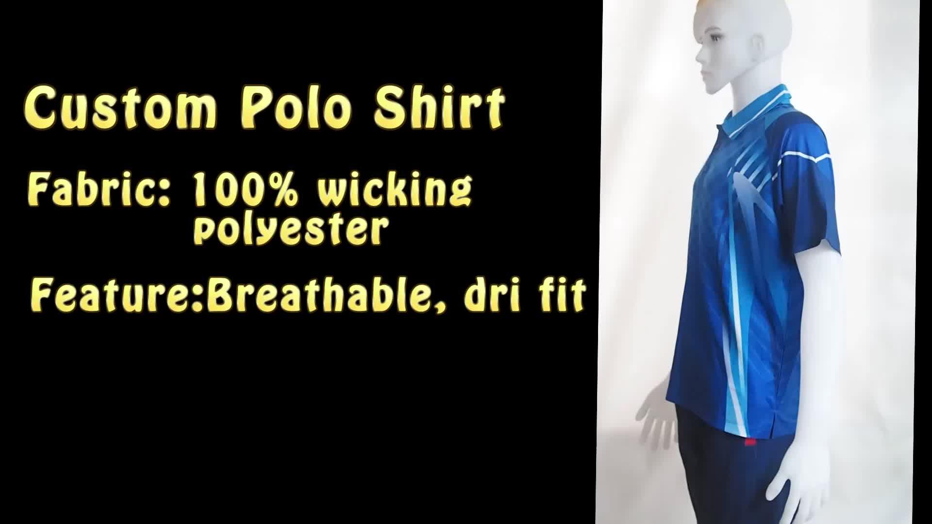 OEM 로고 인쇄 승화 골프 폴로 t 셔츠 맞춤형 폴로 셔츠