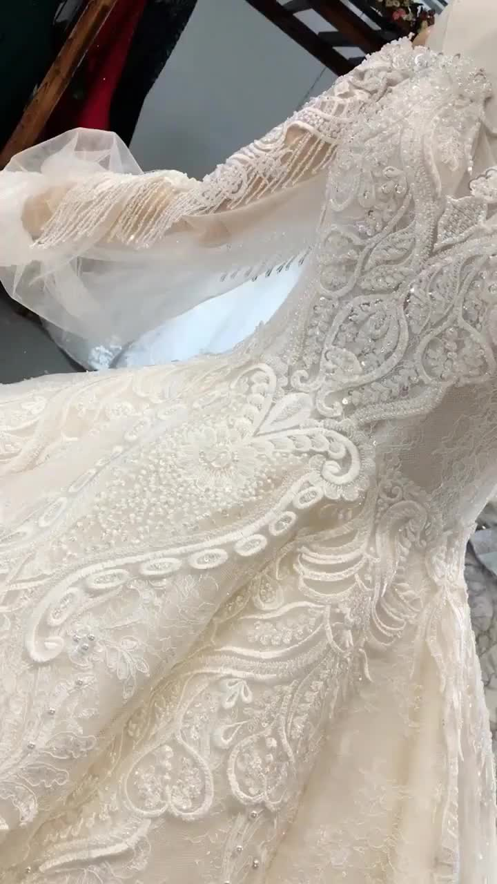 LS354711 real elegant sweetheart off shoulder long sleeves dress luxury crystal ball dress party gown