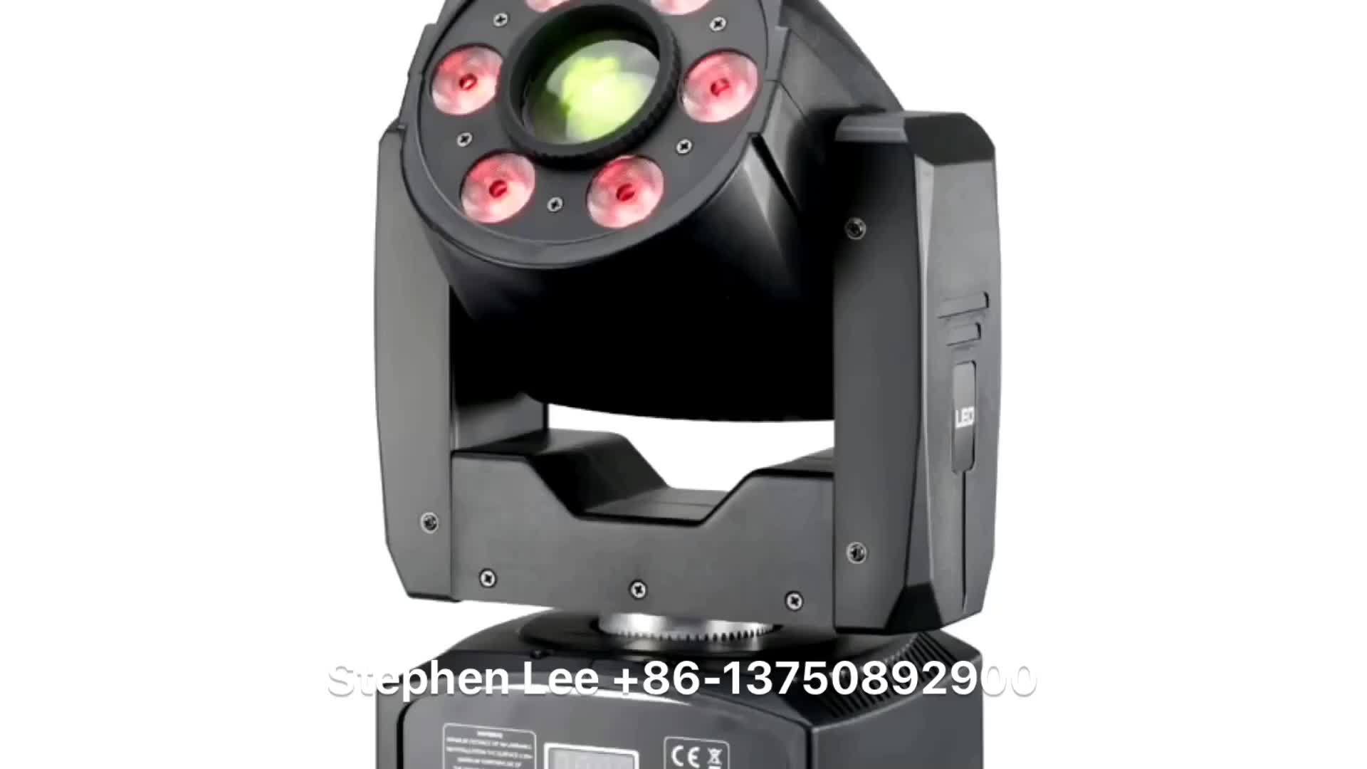 Versatile stage light 30w gobo spot and 6*8w 4in 1 mini moving head wash