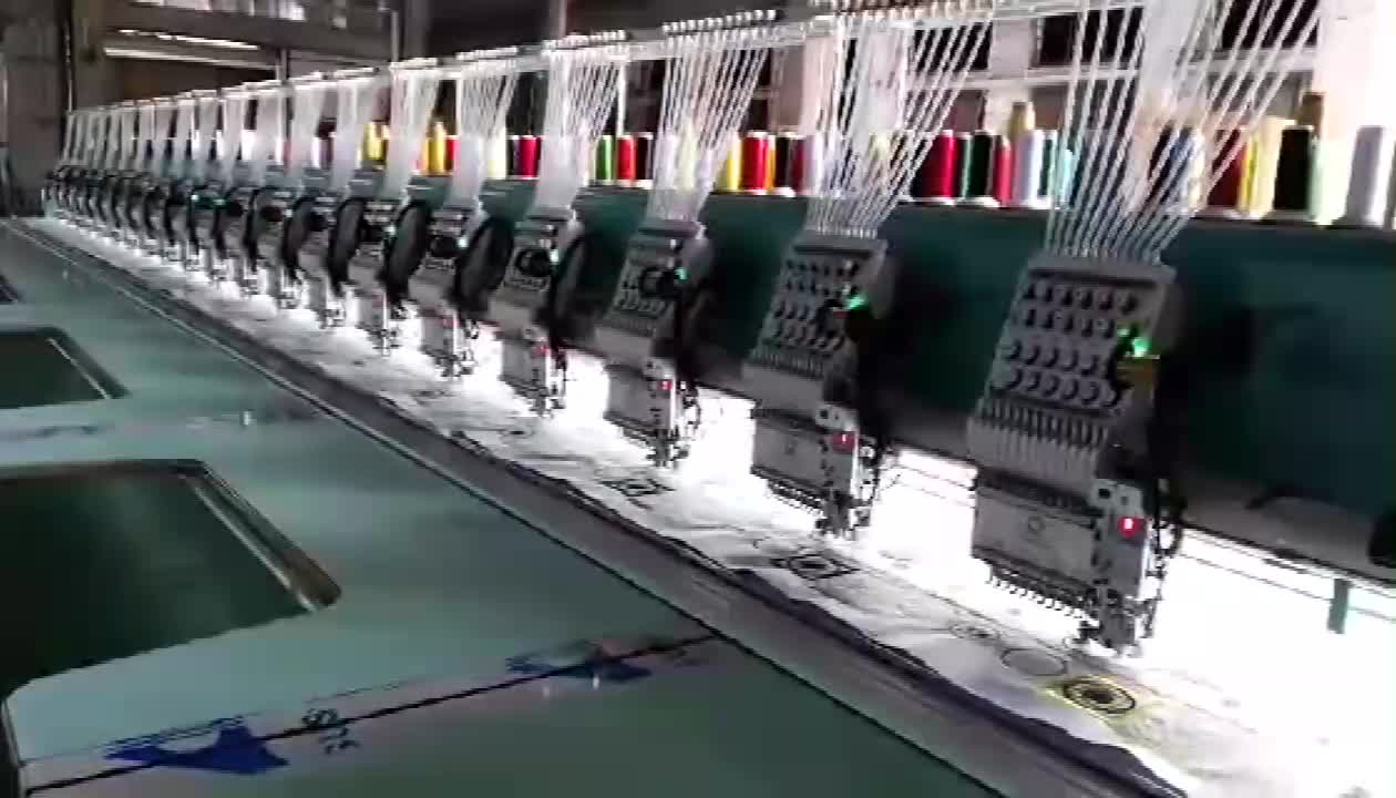20 heads computer embroidery machine with cording device